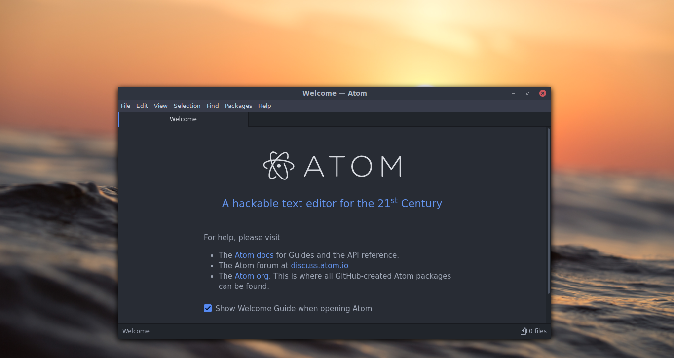 How to Install Atom(Hackable Text Editor) on Linux