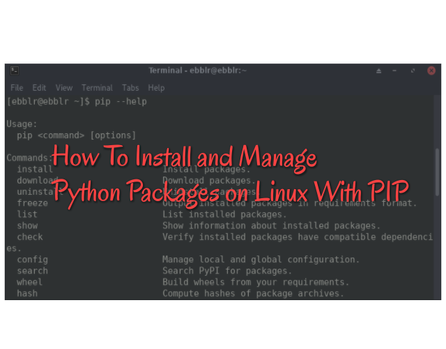 install pip python arch linux